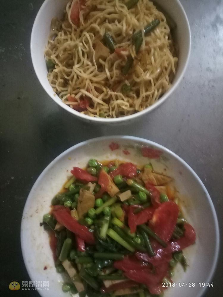 蒜苔豌豆!新疆拌面,西红柿,天下,豆腐干,门楼美食城美食v蒜苔图片